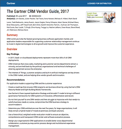 gartner crm vendor guide 2017 pdf