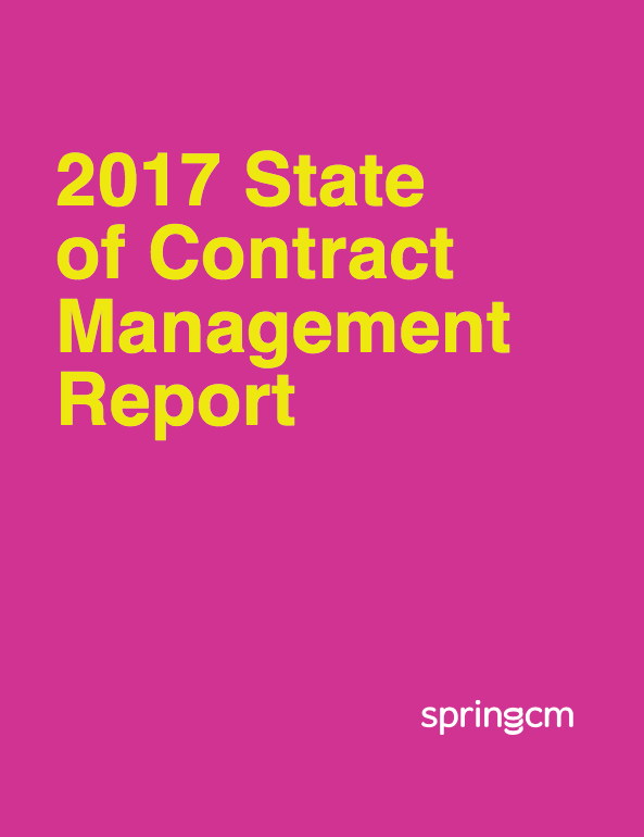 State of Contract Management Report Cover