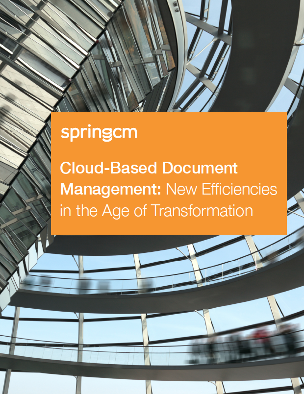 Cloud-based document management ebook cover