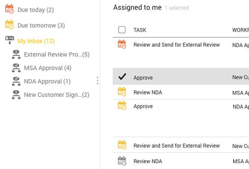 SpringCM Workflow Inbox